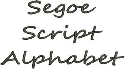 Picture of Segoe Script Alphabet